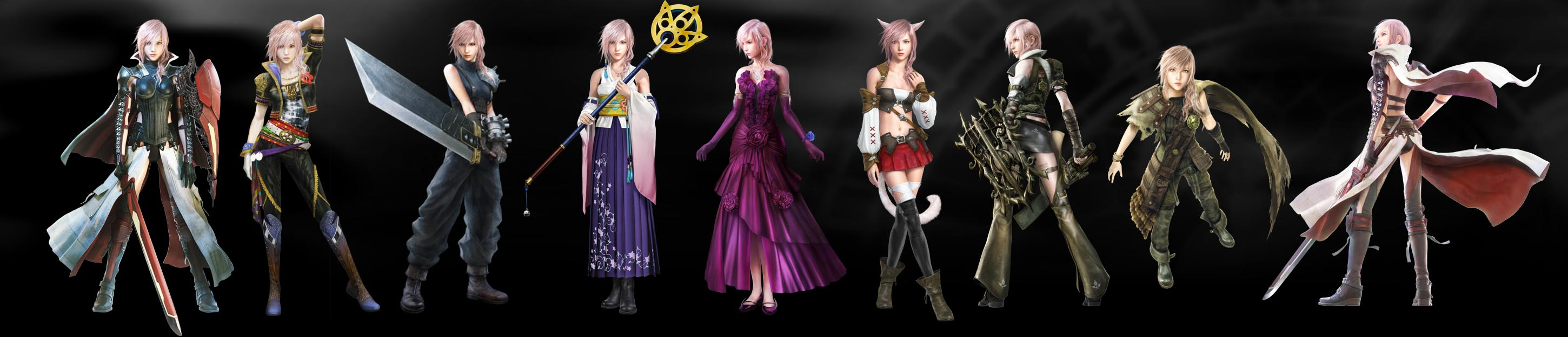 Lightning Returns Final Fantasy XIII costumes line