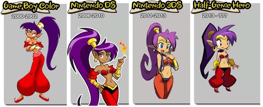 Shantae evolution