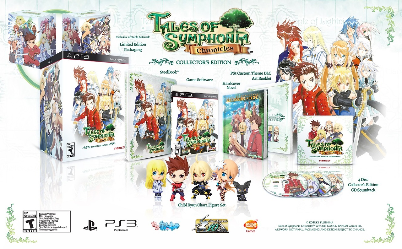 Tales of Symphonia PS3 collection line